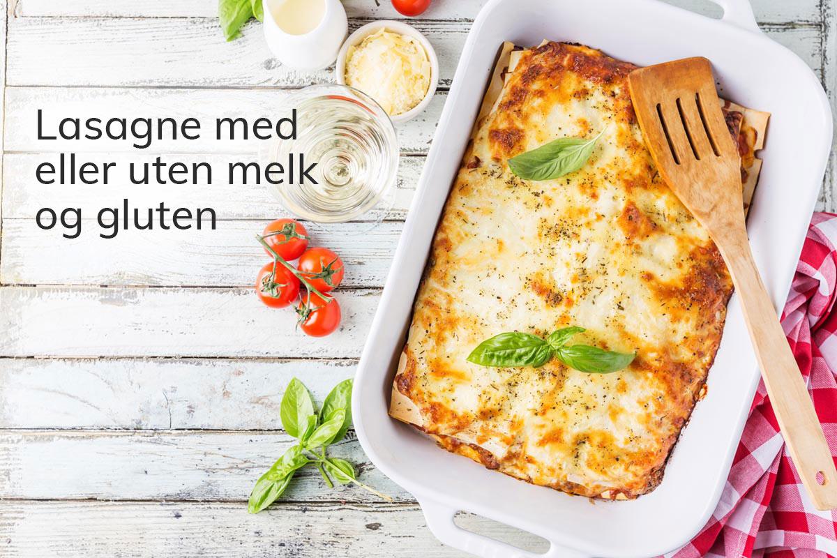 Lasagna med eller uten gluten og melk